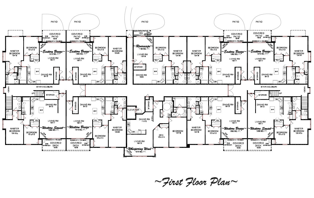 Floor plans of condos for rent or lease in longview wa for Condominium floor plan