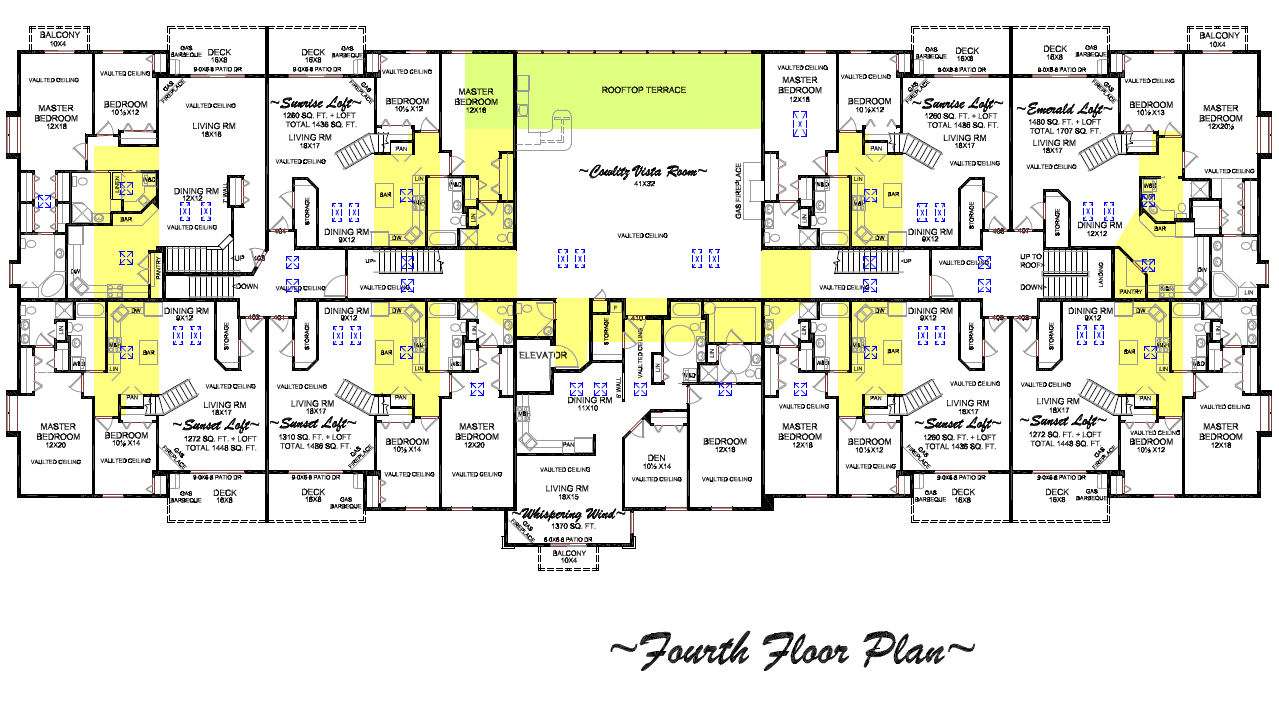 Floor plans of condos for rent or lease in longview wa for 4 unit condo plans