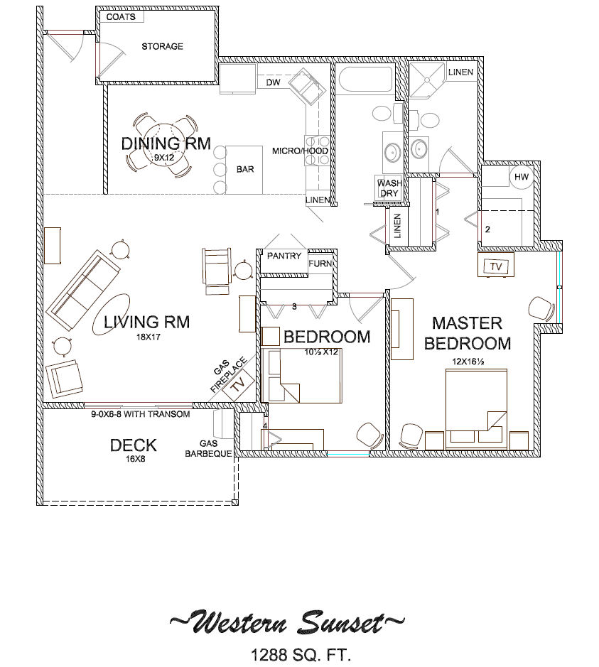 Floor plans of condos for rent or lease in longview wa for Western floor plans